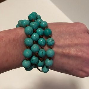 Handmade 2 in 1 - wrapped bracelet and necklace
